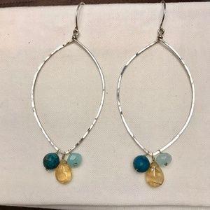 Sterling Silver Earrings w/ Beads